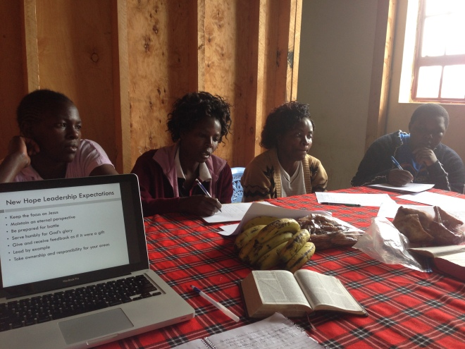Training for our leaders in Project Biashara.