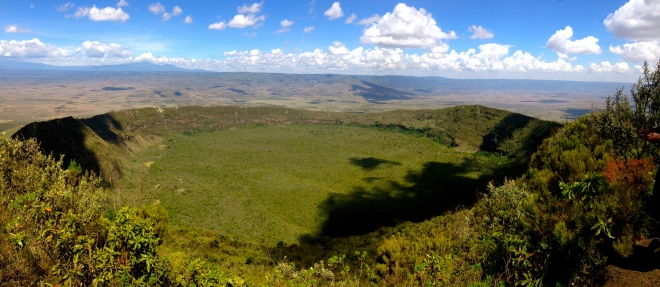 View from highest point of Mt Longonot