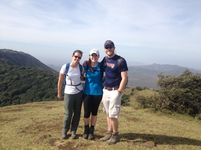 Not the best photo of me, but these are my hiking buddies that will attempt to summit Kili with me.