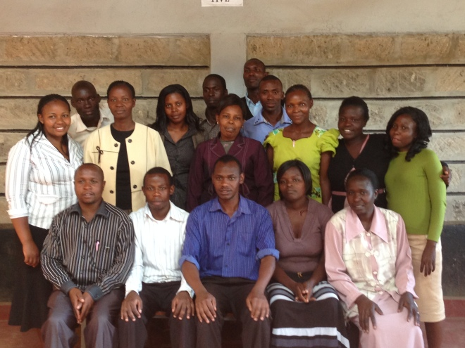 Festus and his teaching staff at New Hope Academy