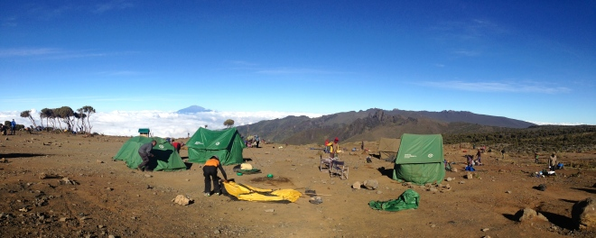 One of our camps on the mountain. We woke up to the most gorgeous views!