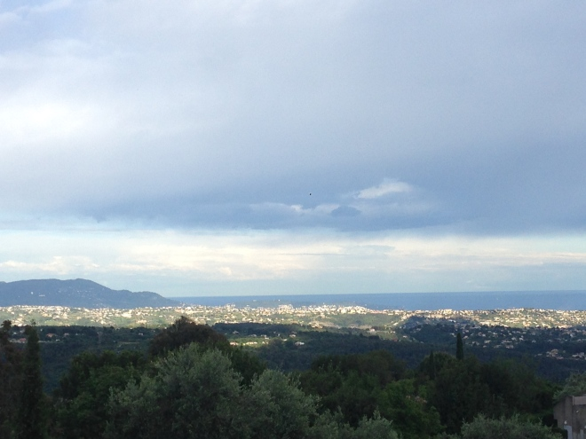 View of Cote d'Azur from my bedroom window. Loved waking up to this view!