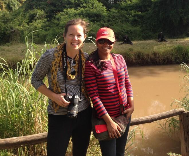 On safari in central Kenya.