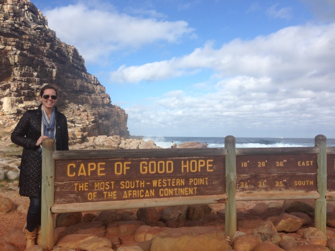 I am currently on holiday with two of my most dear friends in the world. We drove down to the southernmost point in Africa yesterday - Cape of Good Hope.