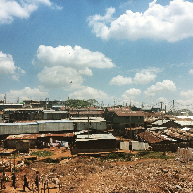 Driving out of Kibera for the last time, I turned around and snap this photo. I wanted a way to remember my last day there. Bittersweet.